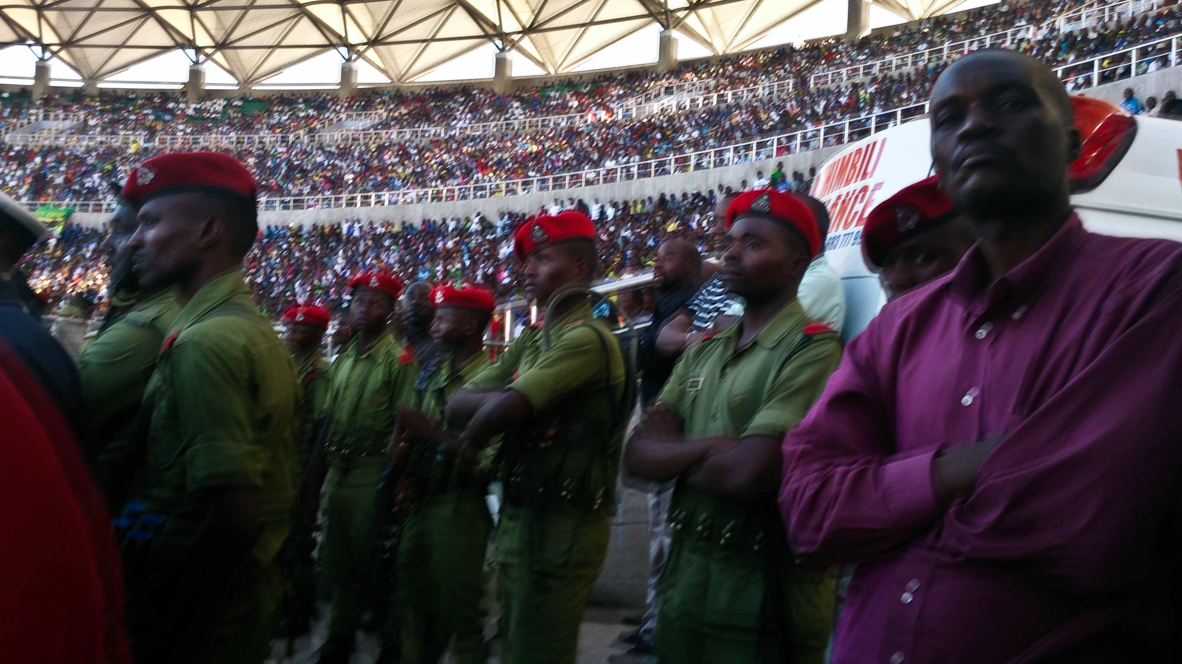 Policemen at National Stadium