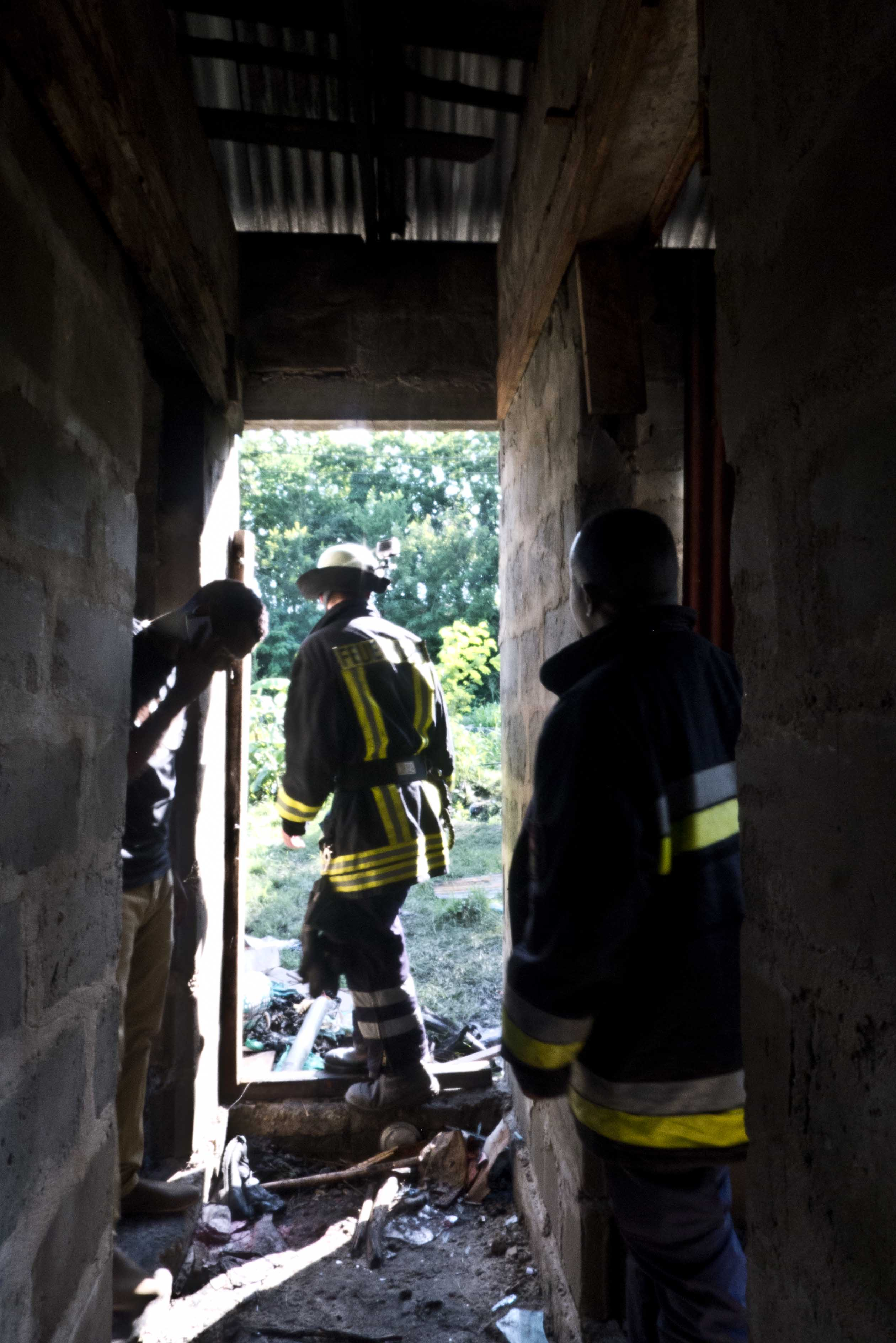 Samuel inspecting site