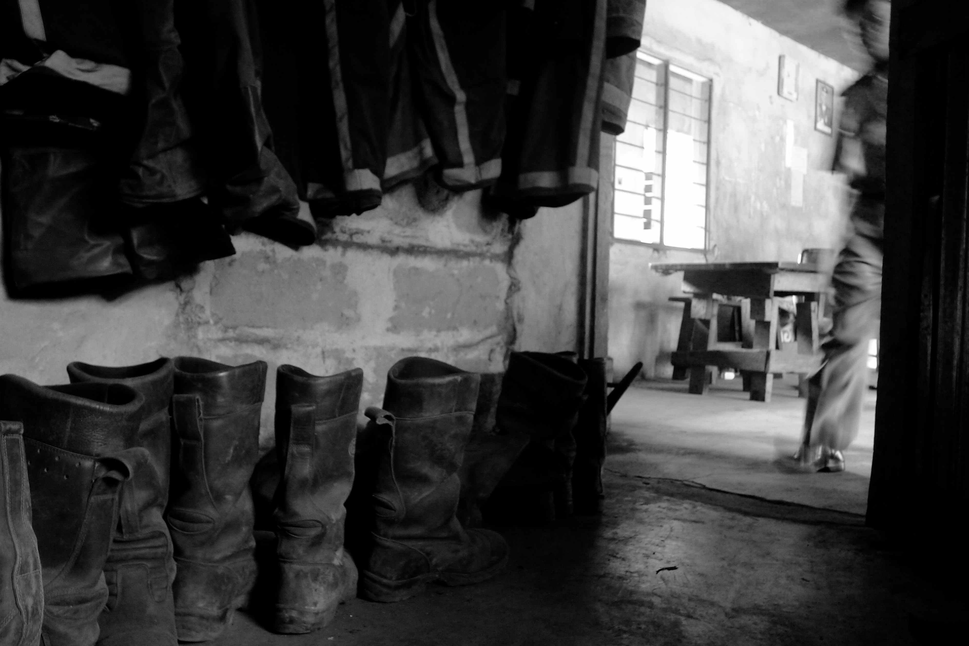 Boots at Kitogani Fire Station