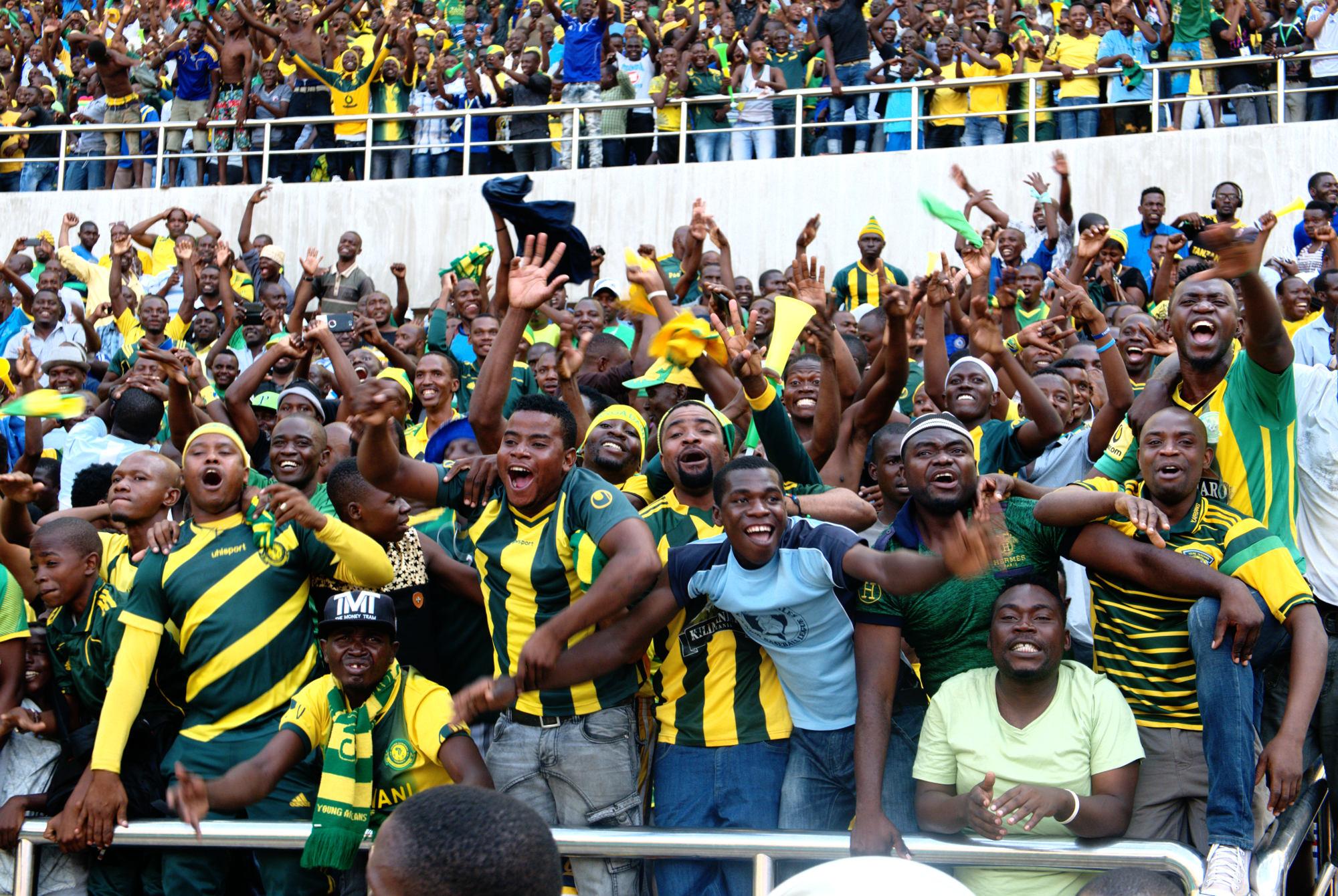 Cheering Yanga supporters