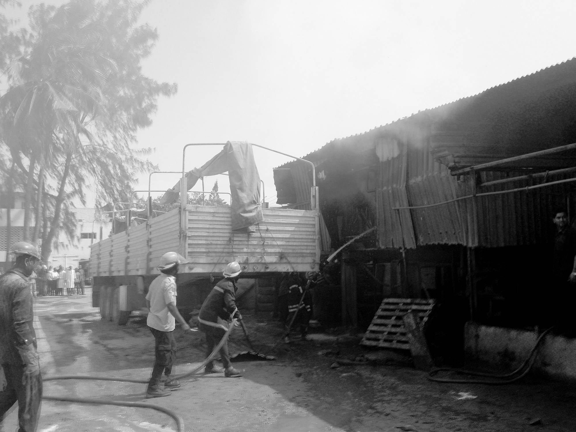 Fire, Milly Glass Factory, Mombasa