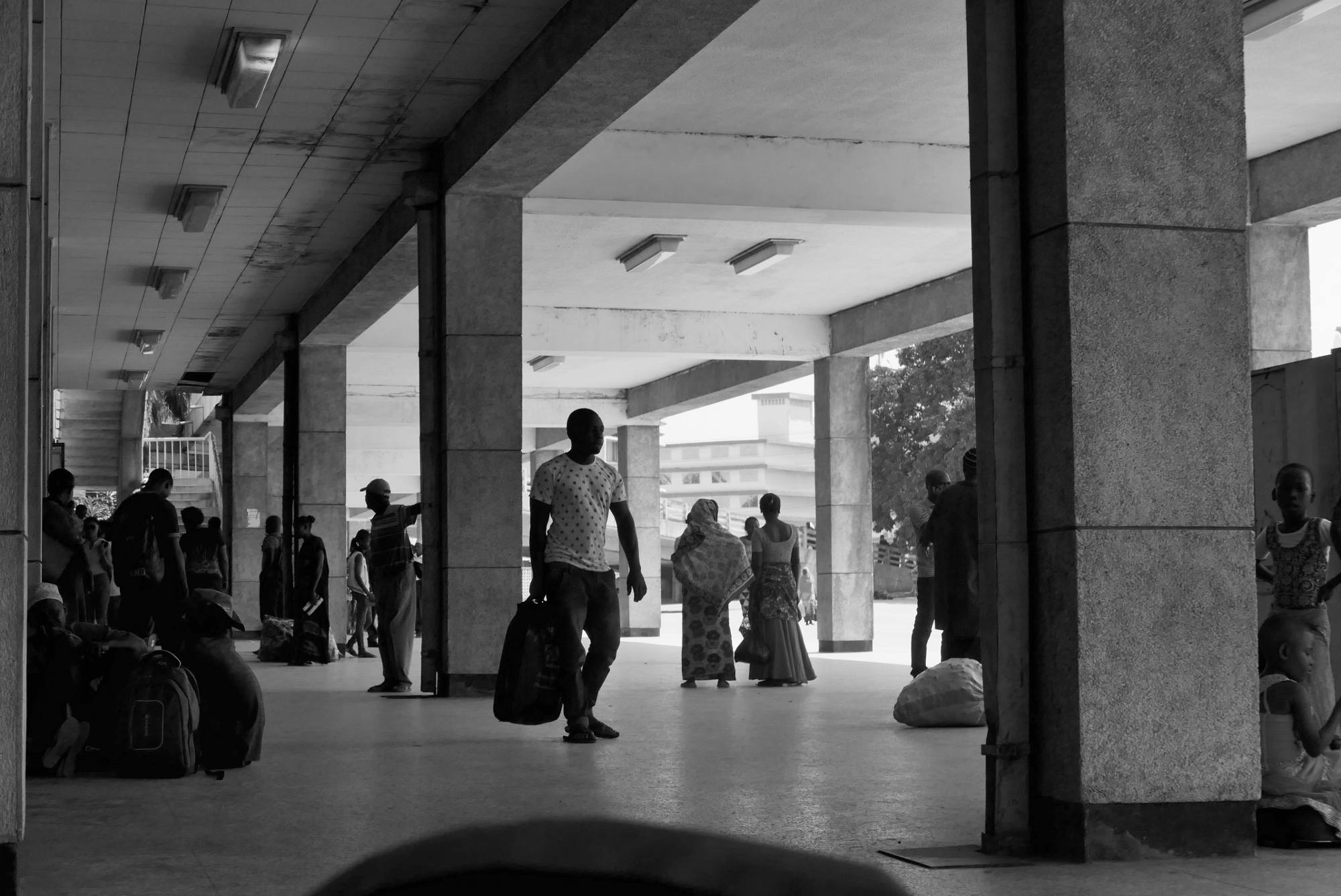 Waiting at Tazara Station, Dar es Salaam