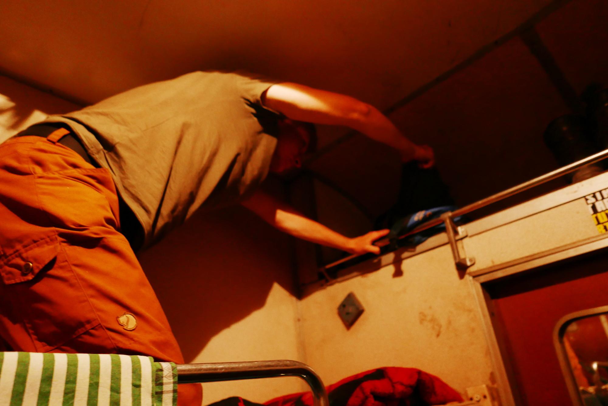 Going to sleep, Tazara train